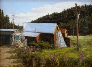 The Glass Tipi Greta Balzer Oil Painting